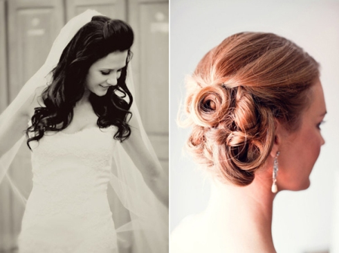 curl haif up and updo bridal hairstyles