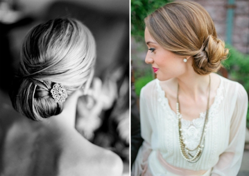 elegant chignon bridal updos wedding