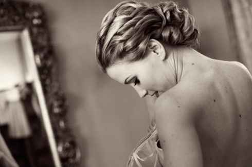 curly bridal wedding updo elegant
