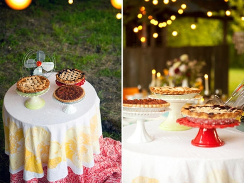 pie wedding dessert buffet
