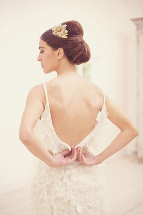 chignon bun wedding hairstyle bridal updo