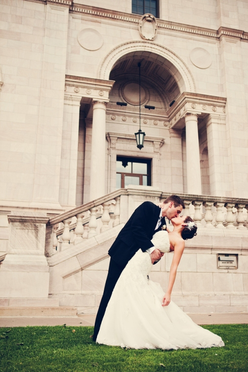 classic architecture st paul hotel wedding