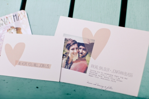 heart photo wedding invitation invite