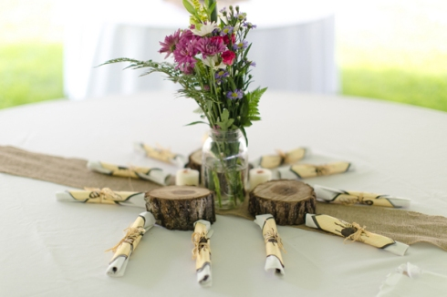 burlap table runner country wedding