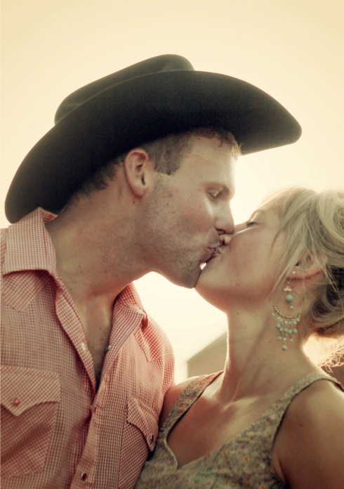 country cowboy engagement session