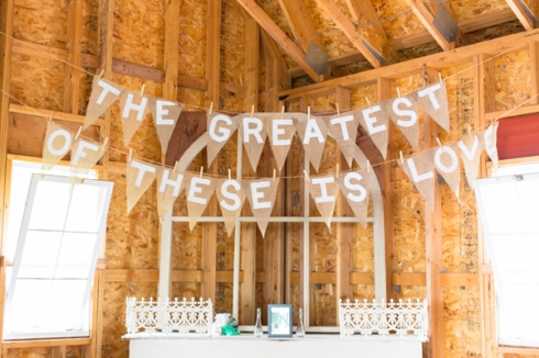 greatest love burlap flag banner