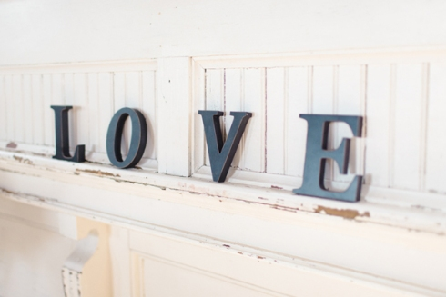 love letters wedding decor