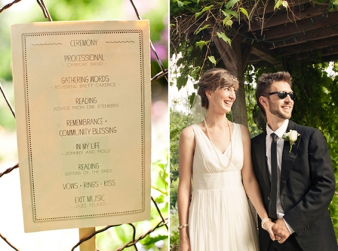simple casual wedding ceremony program